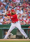 28 May 2016: Washington Nationals outfielder Jayson Werth at bat during a game against the St. Louis Cardinals at Nationals Park in Washington, DC. The Cardinals defeated the Nationals 9-4 to take a 2-games to 1 lead in their 4-game series. Mandatory Credit: Ed Wolfstein Photo *** RAW (NEF) Image File Available ***