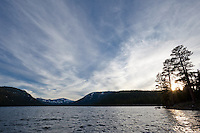 """Independence Lake Sunset 1""- This photograph was shot at Independence Lake, California."