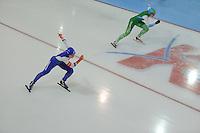 SCHAATSEN: GRONINGEN: Sportcentrum Kardinge, 17-01-2015, KPN NK Sprint, Thijsje Oenema, Mayon Kuipers, ©foto Martin de Jong