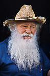 PARAGUAY-10002, NYC28308, MCS1985005 K104, Portraits_book, Filadelfia, Paraguay, 1986, A bearded man at mennonite settlement.