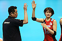 (L to R)  Masayoshi Manabe Head Coach (JPN), Saori Kimura (JPN), .May 26, 2012 - Volleyball : .FIVB Women's Volleyball World Final Qualification for the London Olympics 2012 .match between Japan 0-3 Russia .at Tokyo Metropolitan Gymnasium, Tokyo, Japan. .(Photo by Daiju Kitamura/AFLO SPORT) [1045]