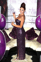 Amy Childs launches her debut fragrance - 'Amy Childs' with a photocall at Aura, St James, London, England..August 15th 2012.full length purple strapless sequins sequined dress hair up .CAP/PP/CB.©Cliff Bass/PP/Capital Pictures.