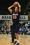 02 January 2012: Virginia's Ataira Franklin. The Duke University Blue Devils defeated the University of Virginia Cavaliers 77-66 at Cameron Indoor Stadium in Durham, North Carolina in an NCAA Division I Women's basketball game.