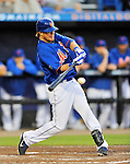 5 March 2012: New York Mets infielder Justin Turner in action during a Spring Training game against the Washington Nationals at Digital Domain Park in Port St. Lucie, Florida. The Nationals defeated the Mets 3-1 in Grapefruit League play. Mandatory Credit: Ed Wolfstein Photo