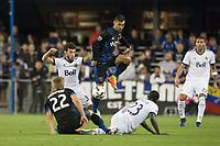 SAN JOSE, CA - MARCH 11, 2017:  San Jose Earthquakes vs Vancouver Whitecaps FC at Avaya Stadium.