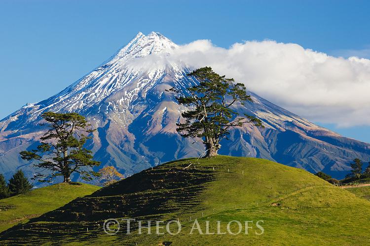 Mount Egmont (Mount Taranaki), Egmont National Park, North Island, New Zealand