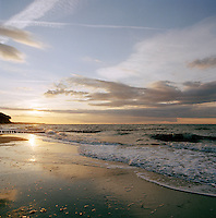 The beach on the Baltic coast at Bad Doberan, on the island of Rugen, northern Germany