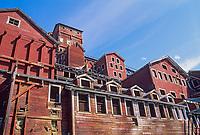 Historic Kennicottt Copper Mine buildings, Wrangell St. Elias National Park, Alaska.