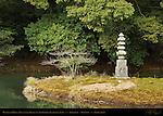 Hakuja-no-Tzuka White Snake Mound Stone Pagoda, Anmintaku Tranquility Pond, Kinkakuji Temple of the Golden Pavilion, Rokuonji Deer Park Temple, Kyoto, Japan
