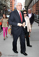 NEW YORK, NY - APRIL 17:  Former United States National Security Advisor, Ret. U.S. General Colin Powell, and wife Alma Powell spotted arriving at 'AOL Build'  in New York, New York on April 17 , 2017.  <br /> CAP/MPI/RMP<br /> &copy;RMP/MPI/Capital Pictures