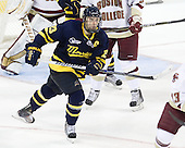Chris Barton (Merrimack - 23) - The Boston College Eagles defeated the visiting Merrimack College Warriors 3-2 on Friday, October 29, 2010, at Conte Forum in Chestnut Hill, Massachusetts.