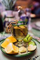 Mezcal with scorpion, Los Dorados de Villa restaurant. Zacatecas, Zacatecas, Mexico