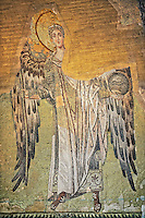 Byzantine Mosaic of an Angel, Hagia, Sophia, Istanbul, Turkey
