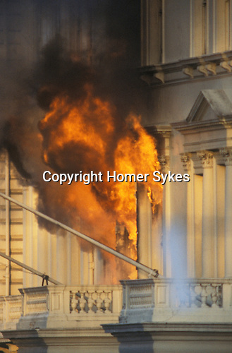 Iranian Embassy siege London England 5th May 1980. The Iranian hostage-takers had opposed Ayatollah Khomeini and demanded freedom for the southern Iranian province of Khuzestan. But their cause was soon forgotten when war broke out between Iran and Iraq in late 1980 - a conflict that was to last eight years.