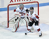 Chloe Desjardins (NU - 29), Maggie Brennolt (NU - 22) - The Northeastern University Huskies defeated Boston College Eagles 4-3 to repeat as Beanpot champions on Tuesday, February 12, 2013, at Matthews Arena in Boston, Massachusetts.