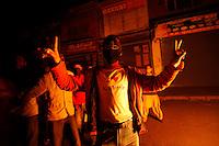 """475.9.Årets reportasje utland.I KONFLIKTENS HJERTE /  THE HEART OF THE CONFLICT..En demonstrant poserer med sin """"Jeg elsker Kashmir"""" T-skjorte under en demonstrasjon. Politi og steinkastende ungdommer braket sammen etter at separatistlederen Yaseen Malik ble arrestert. Srinagar, Kashmir, India...A youth shows of his  """"I love Kashmir"""" t-shirt during protests over the arrest of  separatist leader Yasin Malik.  Srinagar, Kashmir, India...DIGITALT.02112008.SRINAGAR,INDIA"""
