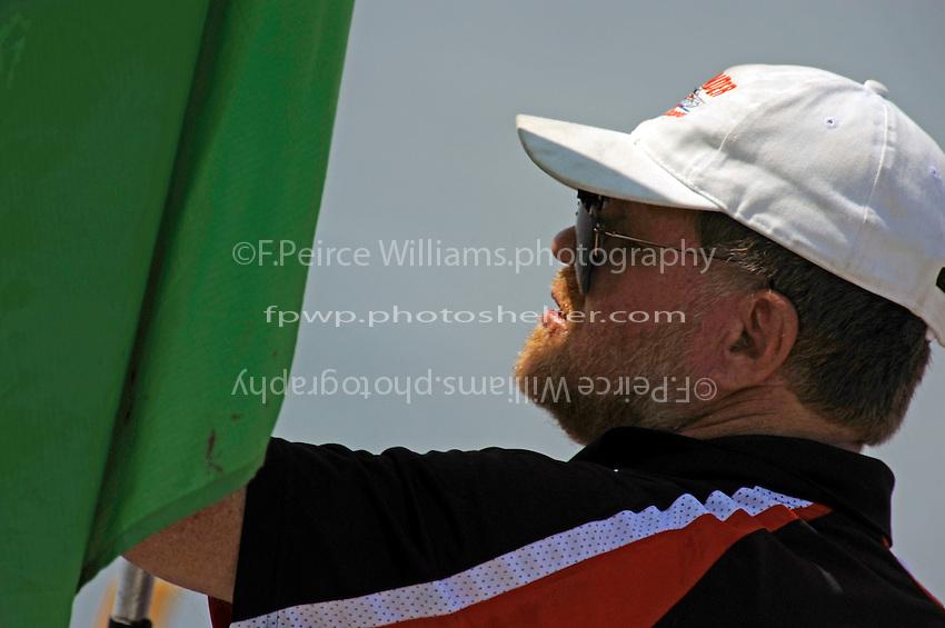 Flagman Bob Hughes