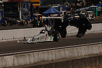 NHRA top alcohol dragster driver Ashley Force Pacific Raceways Seattle Washington Mandatory credit: Mark J. Rebilas