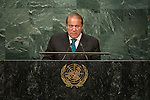 General Assembly Seventy-first session 10th plenary meeting<br /> General Debate<br /> <br /> <br /> Address by His Excellency Muhammad Nawaz Sharif, Prime Minister of the Islamic Republic of Pakistan