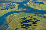 Kongakut River and permafrost, Arctic National Wildlife Refuge, Alaska, USA