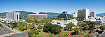 City skyline including Harbour Lights, Hilton Hotel, Reef Hotel Casino and Sebel.  Cairns, Queensland, Australia