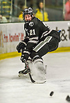 29 December 2014: Providence College Friar Forward Kevin Rooney, a Junior from Canton, MA, in first period action against the University of Vermont Catamounts during the deciding game of the annual TD Bank-Sheraton Catamount Cup Tournament at Gutterson Fieldhouse in Burlington, Vermont. The Friars shut out the Catamounts 3-0 to win the 2014 Cup. Mandatory Credit: Ed Wolfstein Photo *** RAW (NEF) Image File Available ***