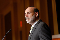 Ben S. Bernanke - Federal Reserve Board Chairman addresses members of the Economic Club of Washington at Mandarin Oriental Hotel in Washington DC