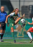26 August 2012: University of Vermont Catamount midfielder Jess Herbst in action against the Fairfield University Stags at Virtue Field in Burlington, Vermont. The Stags defeated the Lady Cats 1-0. Mandatory Credit: Ed Wolfstein Photo