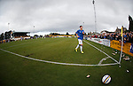 Lewis Macleod saunters up to the corner flag