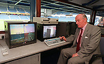 Rangers security chief Alistair Hood in the police control room above the encloseure at Ibrox Staduim in April 1998
