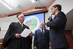 Jarrett Fishpaw is sworn-in as Los Altos' youngest mayor Dec. 4.