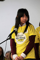 NO FEE PICTURES.8/3/12 Sarah Basangan, St Peter's NS, Phibsboro, taking part in the Dublin County final, part of the overall Eason 2012 Spelling Bee, held at St Olaf's NS, Dundrum. .For further details visit www.easons.com/spellingbee and stay tuned to RTE 2fm. Picture:Arthur Carron/Collins