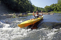 Kayaking in Rivanna River located in Charlottesville, VA. Photo/Andrew Shurtleff