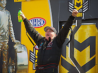 May 22, 2016; Topeka, KS, USA; NHRA top fuel driver Scott Palmer during the Kansas Nationals at Heartland Park Topeka. Mandatory Credit: Mark J. Rebilas-USA TODAY Sports