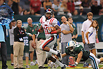 Ole Miss wide receiver Markeith Summers (16) makes a 61 yard pass catch as Tulane safety Alex Wacha (8)  defends at the Louisiana Superdome in New Orleans, La. on Saturday, September 11, 2010.  Ole Miss won 27-13.