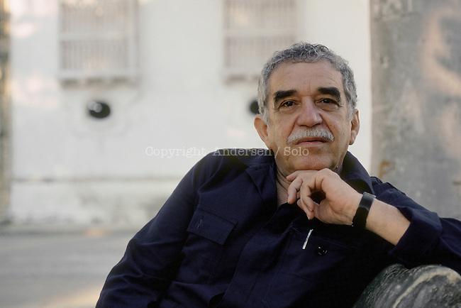 Gabriel Garcia Marquezin Carthagena, Colombia. Nobel prize in1982.
