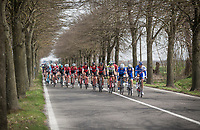 peloton cruising along on a lovely spring day<br /> <br /> 108th Milano - Sanremo 2017