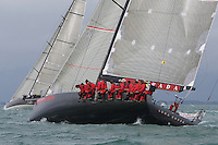 ENGLAND, Cowes, Cowes Week, 4th August 2009, Class Zero, Luna Rossa and Ran (background)
