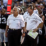 Raider head coach Norv Turner on Sunday, September 26, 2004, in Oakland, California. The Raiders defeated the Buccaneers 30-20.