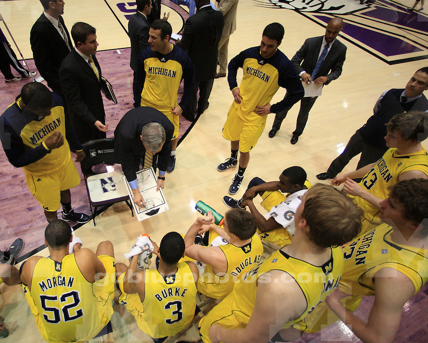 The University of Michigan's men's basketball team defeated Northwestern in overtime, 67-55, at Welsh-Ryan Arena in Evanston, Ill., on February 21, 2012.