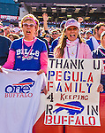 12 October 2014: Buffalo Bills fans thank new Owner Terry Pegula for keeping the team in Buffalo during a game against the Buffalo Bills at Ralph Wilson Stadium in Orchard Park, NY. The Patriots defeated the Bills 37-22 to move into first place in the AFC Eastern Division. Mandatory Credit: Ed Wolfstein Photo *** RAW (NEF) Image File Available ***