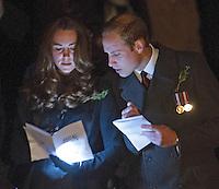 Kate, Duchess of Cambridge & Prince William attend the Anzac Day Dawn Service - Australia