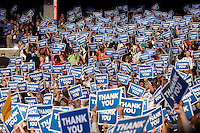 CHARLOTTE, NC - September 6, 2012 - Crowd at the 2012 Democratic National Convention at the Time Warner Cable Arena during the final night of the 2012 DNC.