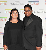 Washington, DC - December 5, 2009 -- Herbie Hancock and his wife arrive for the formal Artist's Dinner at the United States Department of State in Washington, D.C. on Saturday, December 5, 2009..Credit: Ron Sachs / CNP.(RESTRICTION: NO New York or New Jersey Newspapers or newspapers within a 75 mile radius of New York City)