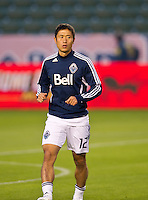 CARSON, CA - March 17, 2012: Vancouver Whitecaps FC defender Lee Young-Pyo (12) during the Chivas USA vs Vancouver Whitecaps FC match at the Home Depot Center in Carson, California. Final score Vancouver Whitecaps 1, Chivas USA 0.