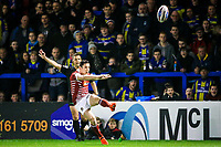 Picture by Alex Whitehead/SWpix.com - 09/03/2017 - Rugby League - Betfred Super League - Warrington Wolves v Wigan Warriors - Halliwell Jones Stadium, Warrington, England - Wigan's Morgan Escare kicks for goal.