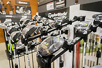 TaylorMade brand golf drivers in the new Dick's Sporting Goods store in the Glendale neighborhood of Queens in New York during its grand opening sales on Saturday, March 11, 2017. TaylorMade is a brand of Adidas which is reported to be trying to sell it with no luck.  (© Richard B. Levine)
