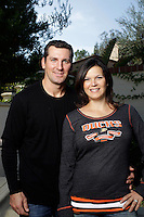 2 November 2012:  Marie and Francois Beauchemin at their home in Tustin, CA.  Photographed for The Hockey News.