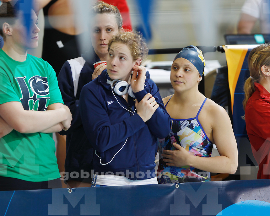 University of Michigan women's swimming and diving competes in preliminary events at the 2011 NCAA Championships hosted by the University of Texas in Austin, TX, on March 17, 2011.