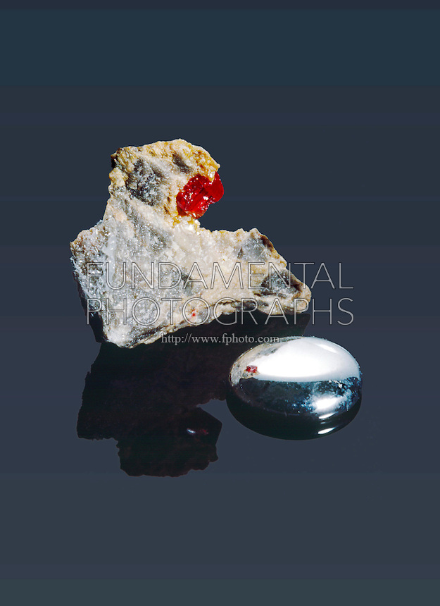 MERCURY &amp; RARE CRYSTAL CINNABAR<br /> Elemental Form &amp; HgS, Chief Ore Of Mercury.<br /> Elemental form &amp; HgS (Mercury sulfide) chief ore of mercury.
